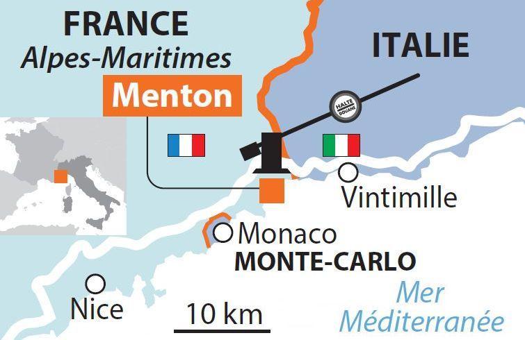 Menton Old Port, France