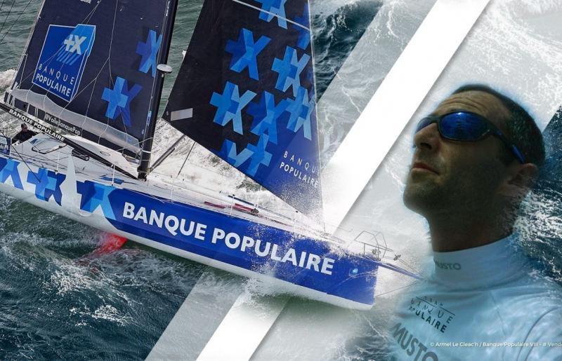 Армель Ле Клеач (Armel LE CLEAC'H) на яхте Banque Populaire взял первенство в регате Vendée Globe и показал новый рекорд