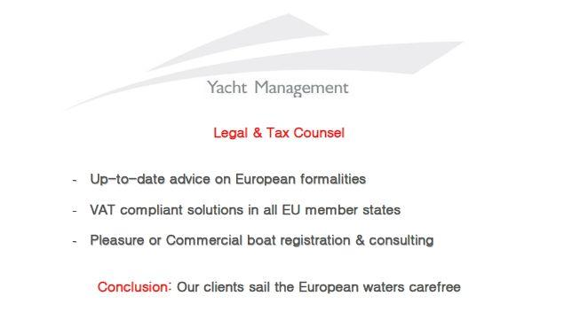 Boat and Yacht Legal and Tax Counsel