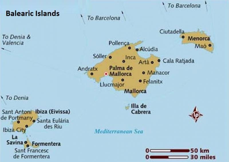Yacht charters Balearic islands Ibiza and Mallorca
