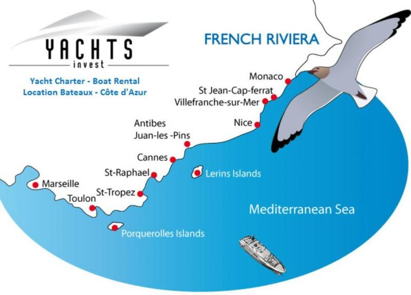 Location Bateau Côte d'Azur - Yacht Charter Riviera