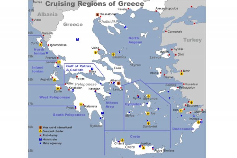Grèce Destination de Yacht Charters - Louer un Bateau dans l'Est de la Méditerranée