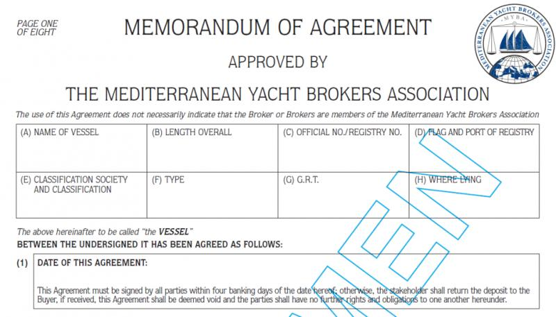 What is the recommended procedure to purchase a yacht safely