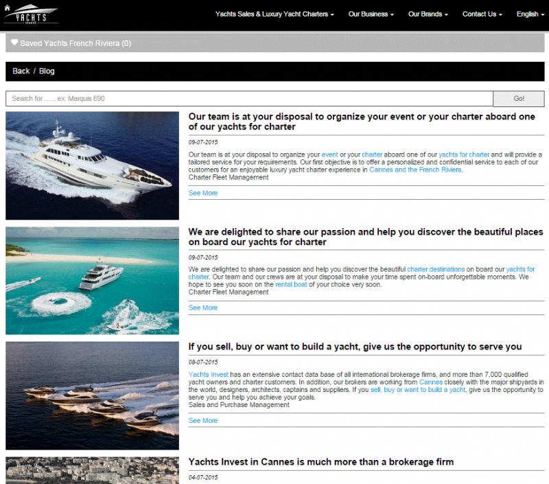 Yachts Invest blog news is Online. Luxury Yacht Charters Cannes